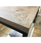Hamilton Living Wandtafel Antoinette - parquetry/metal frame 80x35x74h