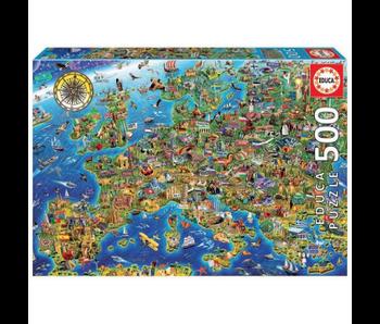 educa 500 La folle carte d'Europe