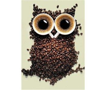 Dia paint WD242 - Coffee Owl 20x30 cm