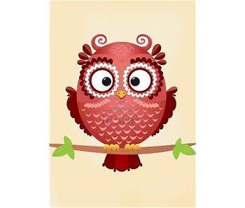 Dia paint WD250 - Owl Phil 20x30 cm