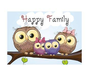 Dia paint WD2319 - Owl Family 38x27 cm