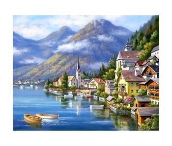 Wizardi Dia paint WD091 - Harbour 48x38 cm