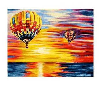 Wizardi Dia paint WD113 - Air Balloons 48x38 cm