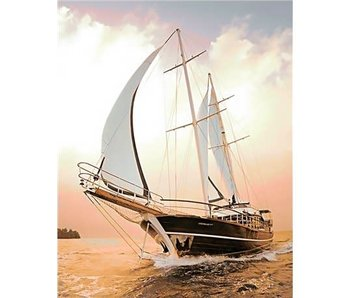 Wizardi Dia paint WD227 - Yacht 38x48 cm