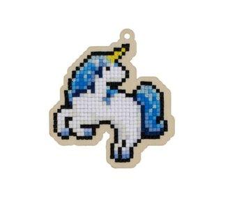 Wizardi Dia paint WW286 - Blue unicorn 8,3x9,2 cm