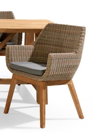 Sensational Como Diningstoel Met Kussen Teak Wicker Andrewgaddart Wooden Chair Designs For Living Room Andrewgaddartcom