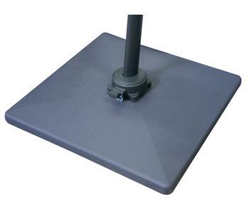 Parasolvoet 70 kg  beton - zwart