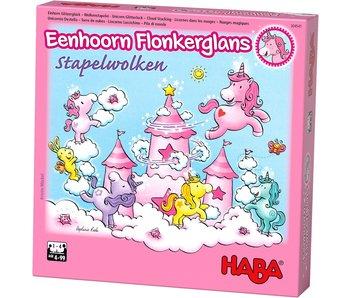 Haba Eenhoorn Flonkerglans stapelwolken | Gezelschapspel NL