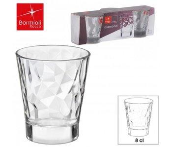Diamond Espresso glas 8cl set / 3