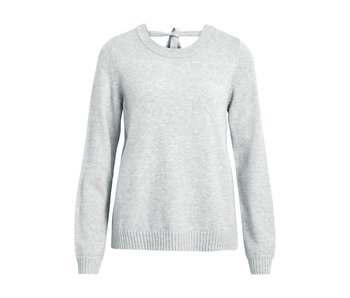 VILA Viril L/S open back knit top - LGM - XS