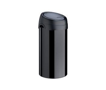 Afvalemmer 60 L soft touch zwart 40.8x40.8x 82 cm