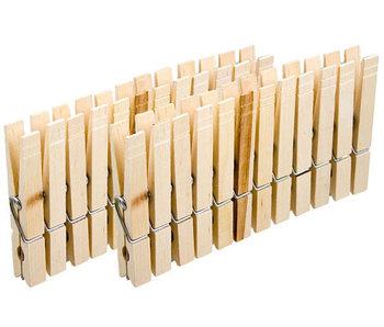 24 pinces à linge en bois- 8.5cm