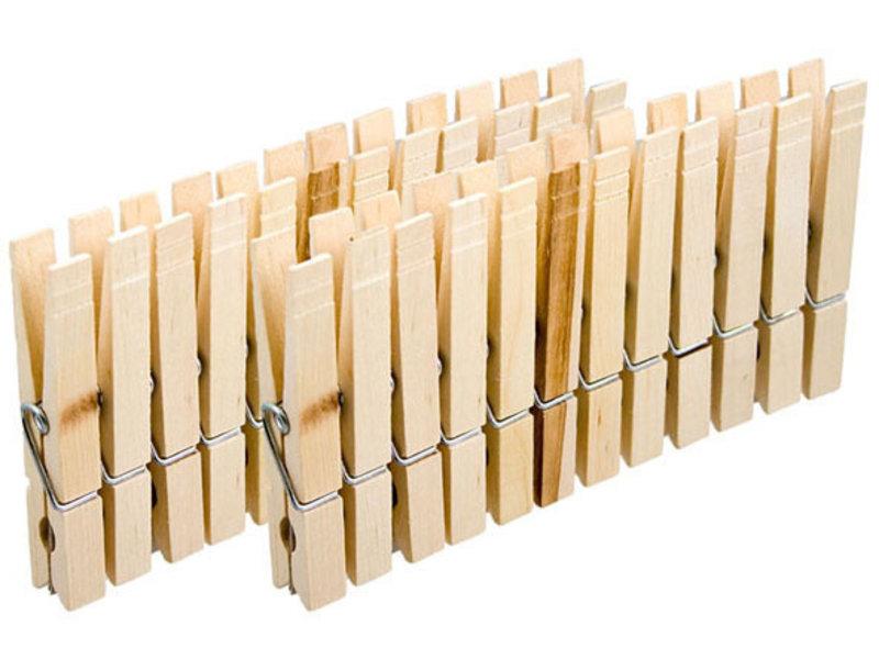 24 pinces à linge en bois - 8.5cm
