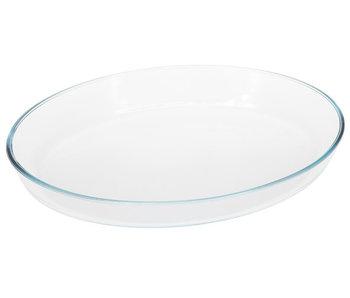 Plat de four en verre ovale 1.8L 30x21x5.5