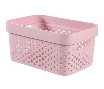 INFINITY BOX 4.5L DOTS roze 26x18xh12 cm
