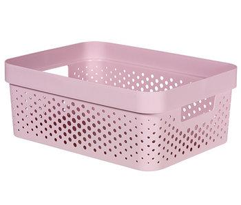 INFINITY BOX 11L DOTS roze - 36x27xh14 cm