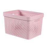 Infinity box 17L dots roze