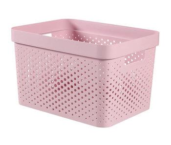 Infinity box 17L dots roze -36x27xH22 cm
