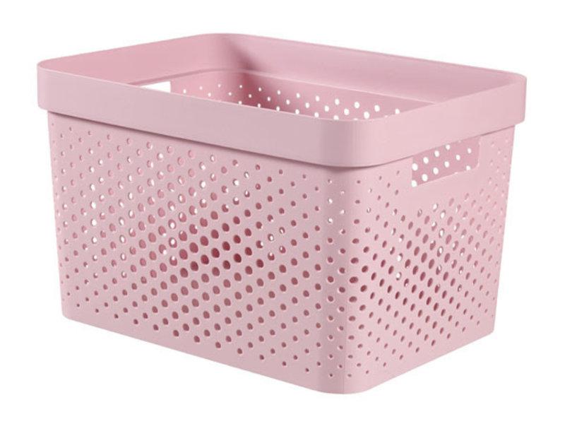 Infinty box 17L dots roze