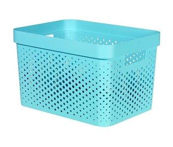 Infinty box 17L dots blauw