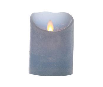 LED Cylinderkaars - 8x11cm -  Blauw