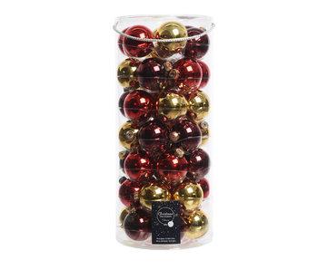 49 kerstballen 6cm glas classic twist
