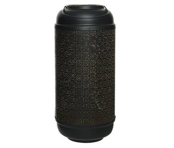 Lantaarn 2 | zwart mat met handgreep | 20x42cm
