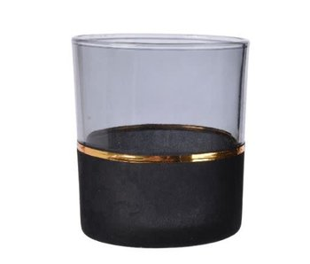 Theelicht glas flock A 7x8cm