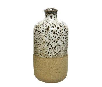Vase blanc / noir dia6.5x13cm