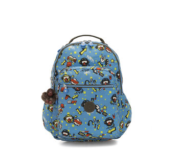 Kipling Seoul Go Monkey Rock blauw - sac à dos 27L