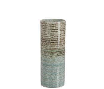 J-Line Vaas overgang streep keramiek bruin/blauw S