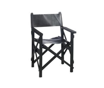 J-Line Regiss stoel plooib ht/led zw