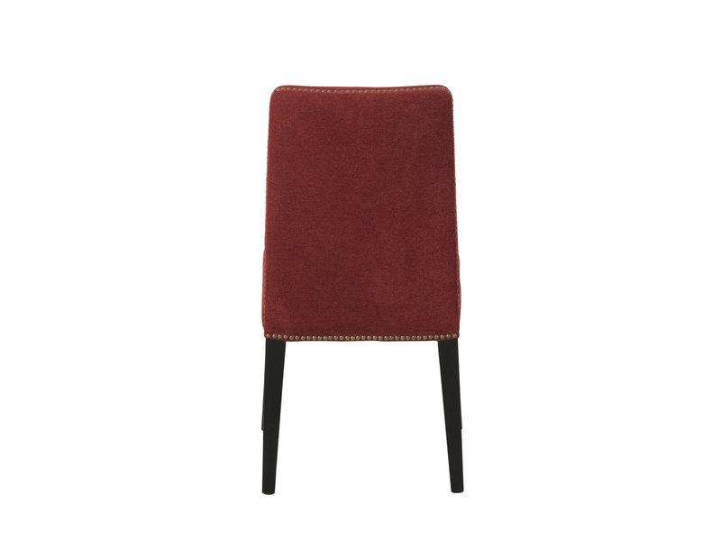 J-Line fluwelen stoel met zwarte poten - 85006