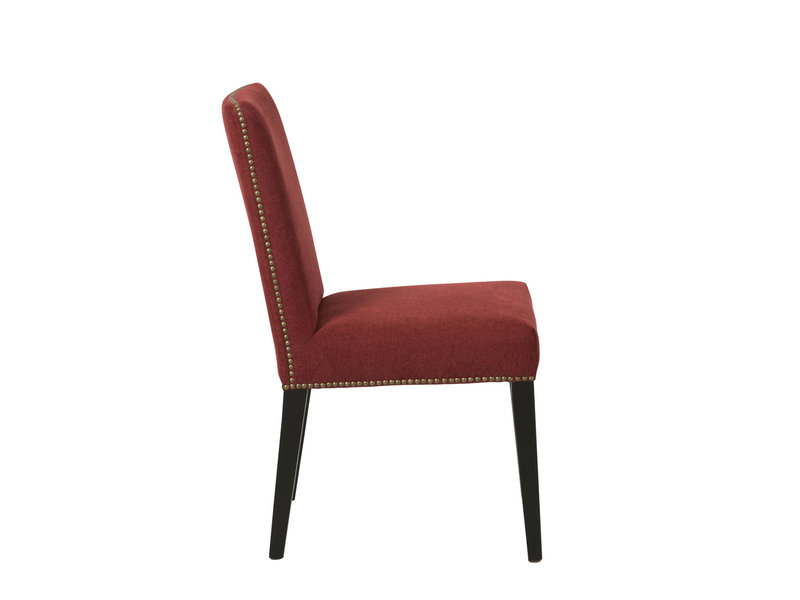J-Line fauteuil velours avec pieds noirs - 85006
