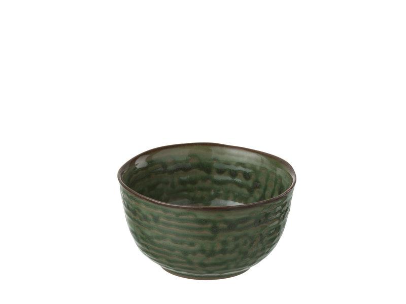 J-Line porseleinen kommetje van groene kleur - 86817