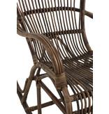 J-Line Rotan schommelstoel van bruine kleur - 91336