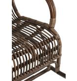 J-Line Fauteuil à bascule en rotin de couleur marron - 91336