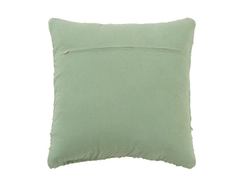 J-Line gehaakt katoenen kussen ( groene kleur ) -  94209