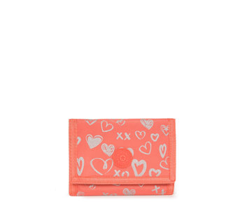 Kipling portefeuille Mickylina Hearty Pink 9x12,5x2 cm