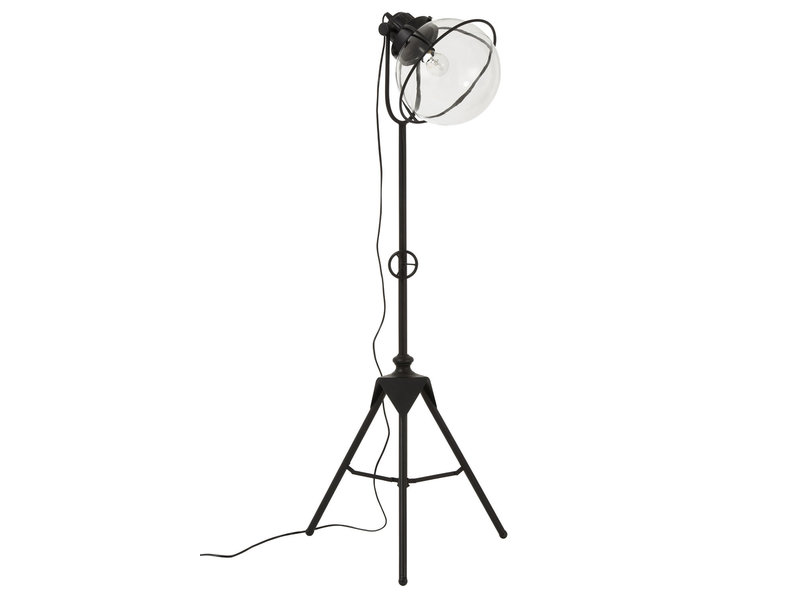 J-Line LAMP DRIEPOOT MET/GL ZWART