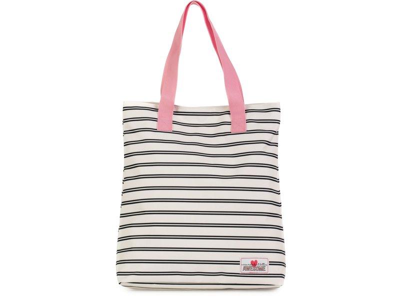Shopper Awesome Mermaid stripes: 38x33x15 cm (172AWG772)