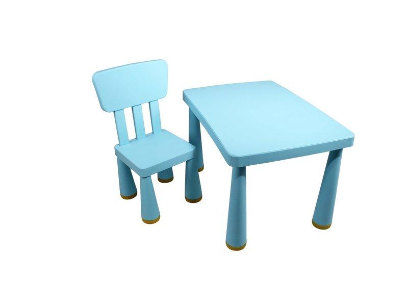 stoeltje tapse poten lichtblauw