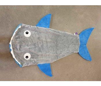 Haai voetenzak blauw-grijs