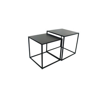 Hamilton Living Table d'appoint Ashlin   Large   Métal 40x40x40 cm