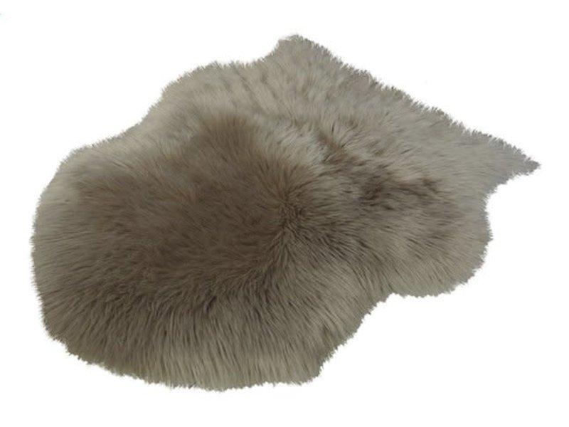 peau de mouton 65x90cm TAUPE