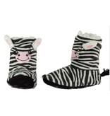 Soft hoge pantoffel zebra 34-36