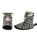 Soft hoge pantoffel zebra 31-33