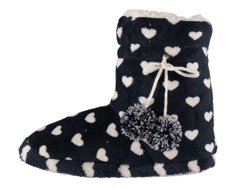 Soft pantoffels 39 - 40 zwart / wit hart