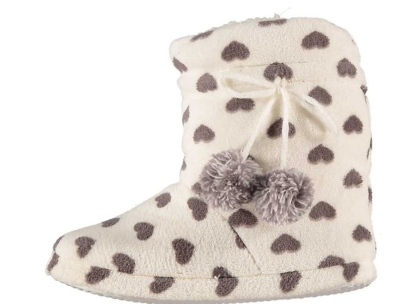 Soft pantoffels 37-38 wit / grijs hart