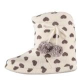 Soft pantoffels 41- 42 wit / grijs hart